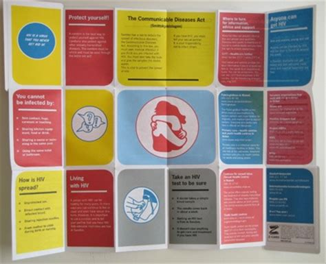 hiv informative fold out poster brochure print pinterest
