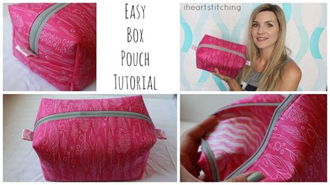 3d Pattern Pouch easy zippered box pouch tutorial