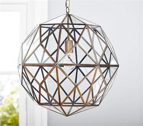barn light with cage glass metal cage pendant pottery barn kids