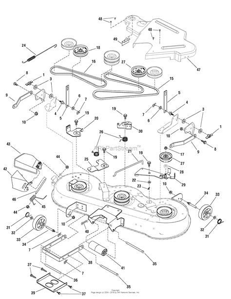 murray lawn mower deck parts diagram murray 7800482 elt175460f 17 5hp 46 quot hydro 2009 parts