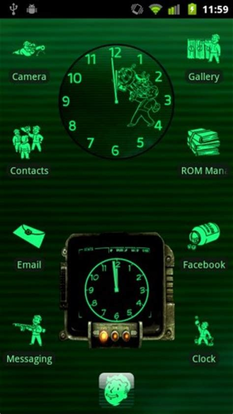 fallout themes for android fallout pipboy 3000 adw theme for android appszoom