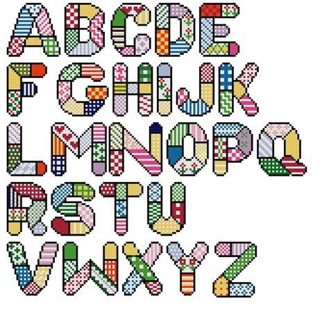 imagenes de pacchwork para imprimir abecedario patchwork letras imagui