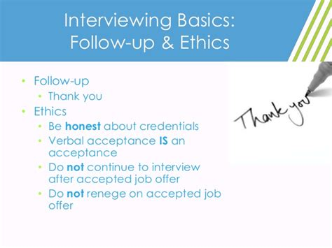 interviewing for time success