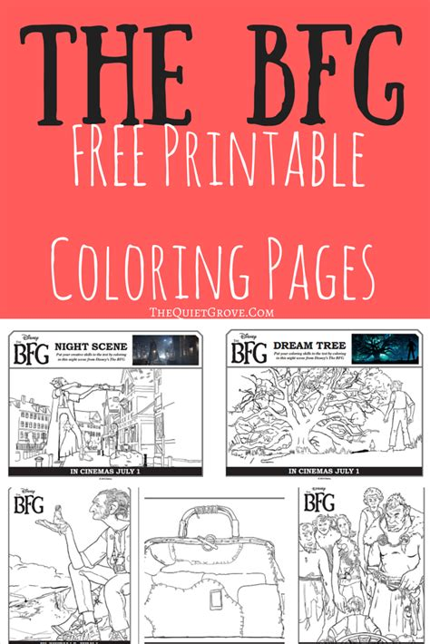 free pritable bfg coloring pages and activity sheets the
