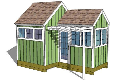 Backyard Shed Plans 12x8 8x8 Garden Shed Plans With Trellis