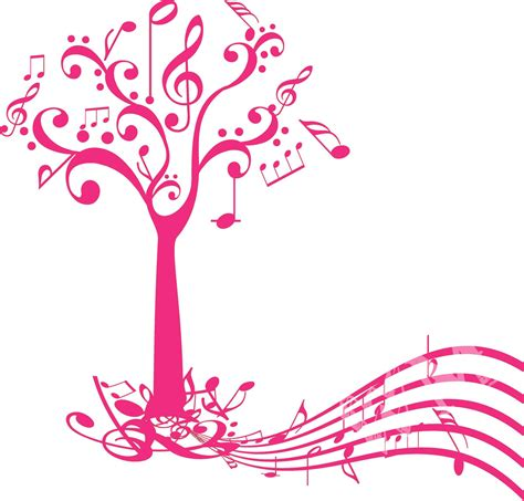 Kitchen Wall Stickers Decor music tree decal