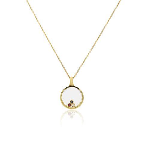 Pendant Necklace 14k gold floating gemstone pendant necklace