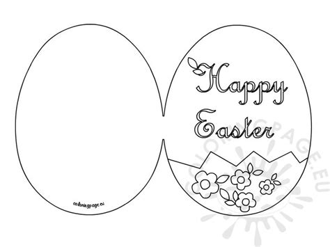 Free Easter Card Templates To Colour by Happy Easter Card Printable Coloring Page