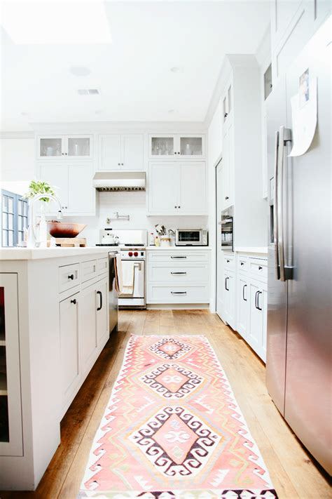 Rugs In Kitchen vintage kilim turkish rugs in the kitchen