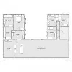 maison en u plan 11 pi 232 ces 220 m2 dessin 233 par ludivine170411