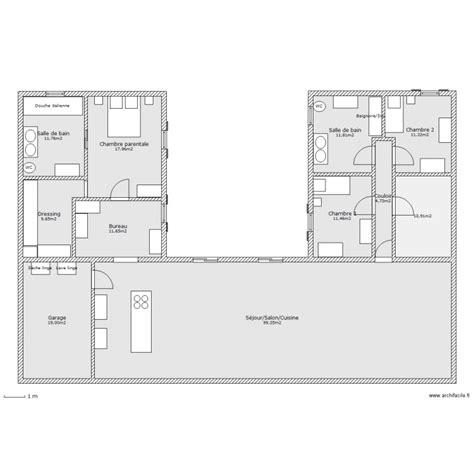 Duplex Home Plans by Maison En U Plan 11 Pi 232 Ces 220 M2 Dessin 233 Par Ludivine170411