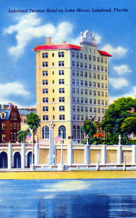 Lakeland Florida Records Florida Memory Lakeland Terrace Hotel On Lake Mirror Lakeland Florida