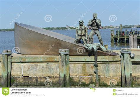 u boat attack new york american merchant marines memorial in new york city stock