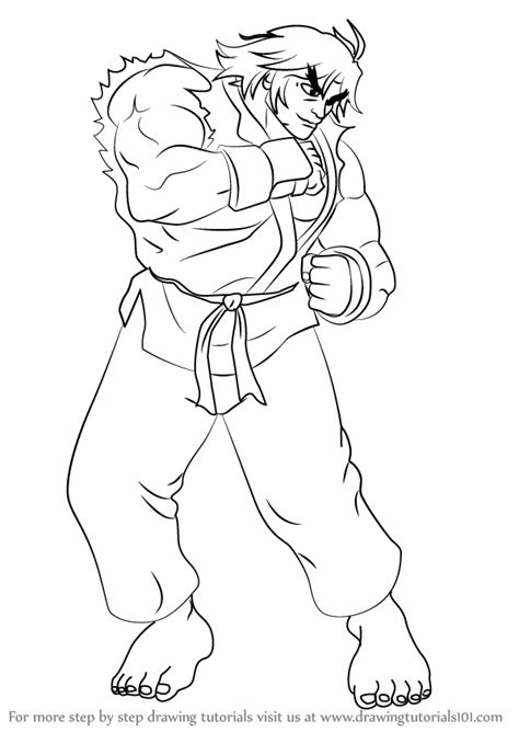 Fighter V Sketches by Learn How To Draw Ken From Fighter Fighter