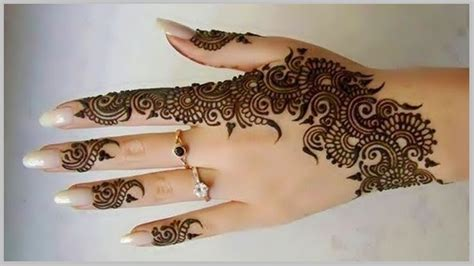 simple arabic mehndi designs for step by step for