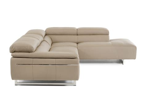 Taupe Sectional by David Velluto Modern Taupe Leather Sectional Sofa