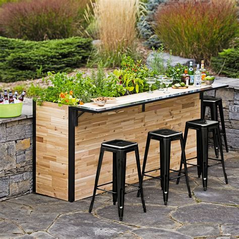 Garden Bar Table Plant A Bar Wooden Outdoor Bar And Planter The Green