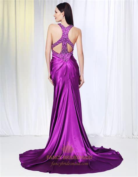 To Dress Violet violet purple prom dresses evening dresses with side split violet empire soft purple
