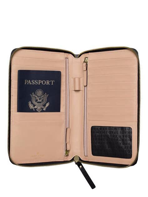 kate spade l home goods kate spade grand zip travel wallet black leather