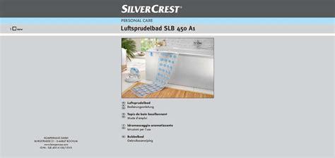 Telecharger Tub Mat by Mode D Emploi Silvercrest Slb 450 A1 Spa Bath Mat