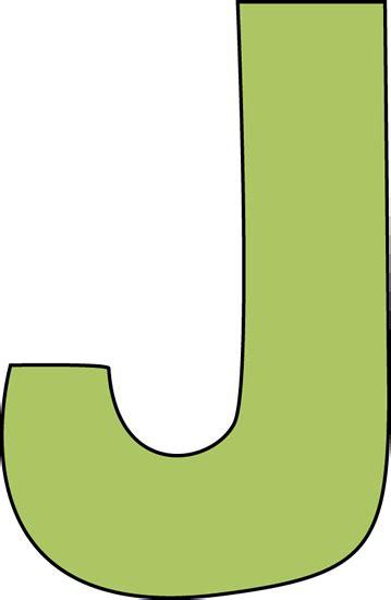 Green Letter J Clip Art   Green Letter J Image