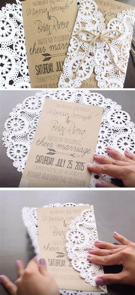 wedding invitation ideas 50 unique diy wedding invitation ideas hi miss puff