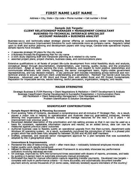 Sle Resume For Client Relationship Management career objective for relationship manager 28 images