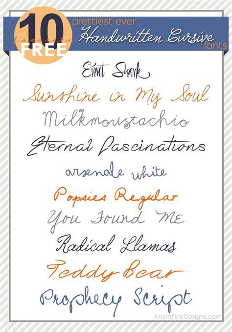 Best Ever Handwritten Cursive Fonts Moritz Fine Designs Best Fonts Cursive