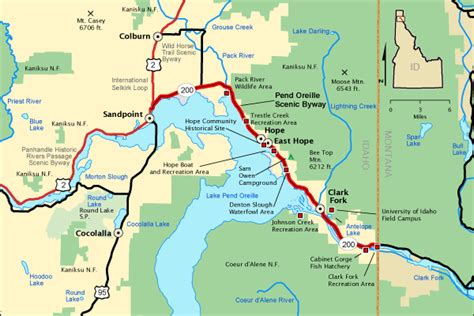 lake pend oreille idaho the idaho washington aquifer - Pend Oreille River Boat Launch Map
