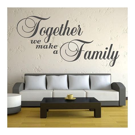 how to make a wall sticker together we make a family quote wall sticker bedroom wall