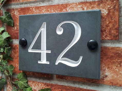 house number slate house number sign 140mm x 100mm