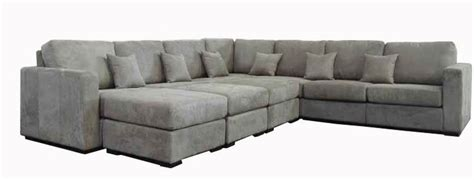 grey sectional forenza a modern microfiber or leather