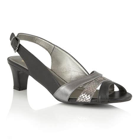lotus shoes lotus valeria black metallic leather sling back sandals