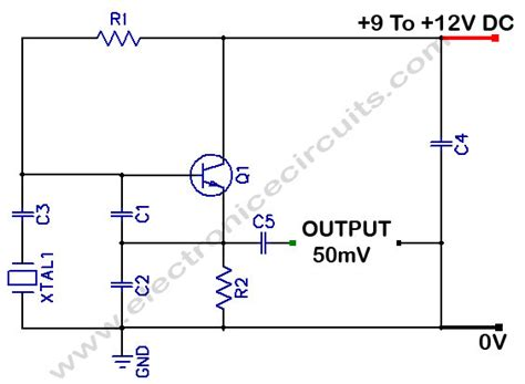 Xtal Crystall 8 Mhz colpitts 1 to 20 mhz oscillator electronic circuits