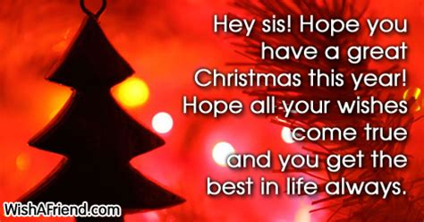 christmas messages  sister