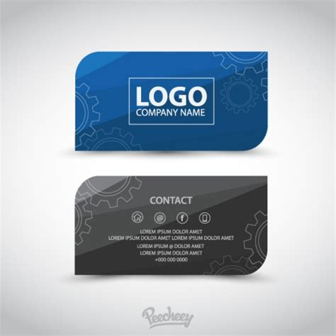 professional business card template free vector in adobe