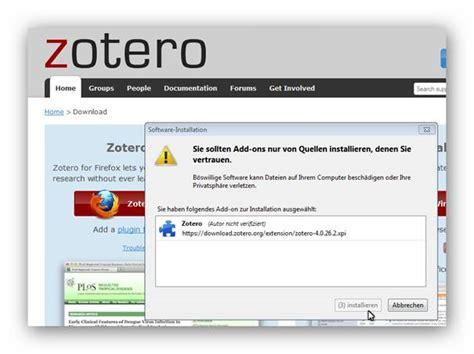 zotero firefox tutorial wie man zotero installiert und notizen quellen und