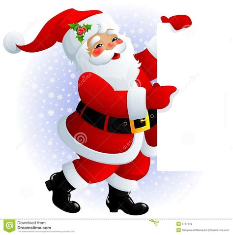 santa claus sign stock illustration image of board paper