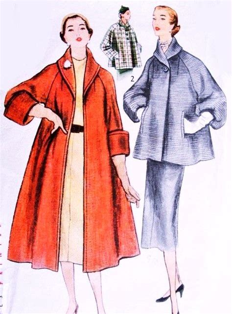 swing coat patterns 1950s beautiful swing coat pattern simplicity 8449 full