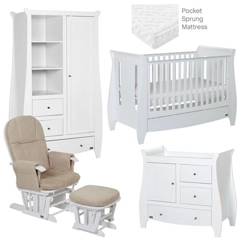 lucas white 5 room set nursery furniture set baby