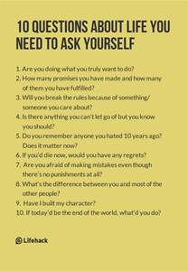 10 questions about you need to ask yourself