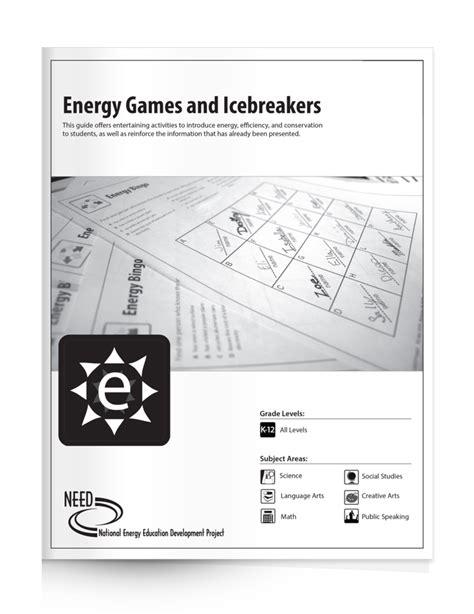 energy games  icebreakers    ice