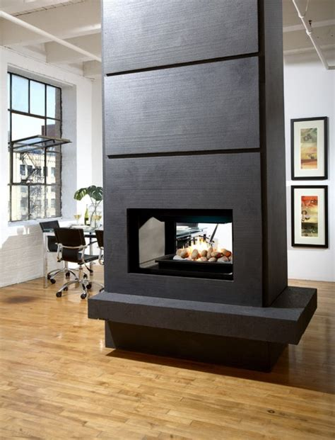 marquis gemini multi sided fireplace modern living room denver by home and hearth outfitters