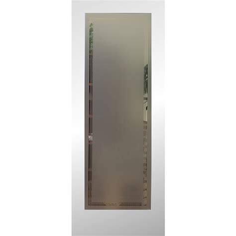 Interior Slab Doors Shop Reliabilt 1 Lite Solid No Skin Non Bored Frosted Interior Slab Door Common 24 In X