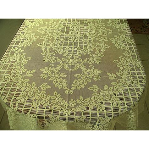 Oval Table Cloths by Tablecloth Oval Trellis 60x84 Ivory Table Linens