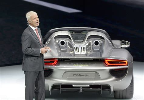 Porsche Automobil Holding Se by 2013 International Auto Show In Frankfurt Germany