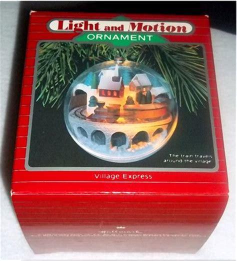 hallmark light and motion ornaments hallmark 1986 village express light motion train