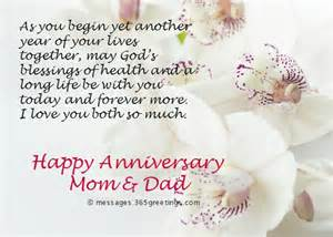 anniversary messages for parents 365greetings