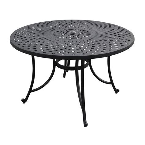 Black Patio Table Shop Crosley Furniture Sedona Charcoal Black Patio Bistro Table At Lowes
