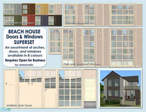 beach house windows simtomatic s beach house doors windows superset